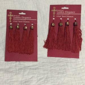 2- 4 pack Tassel Ornament